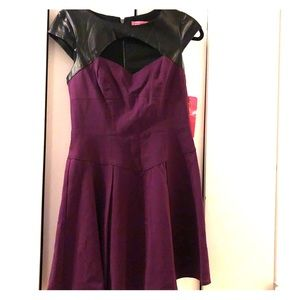 Betsey Johnson NWT Purple and Black Party Dress